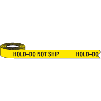 Color-Coded QC Shipping Tape - Do Not Ship