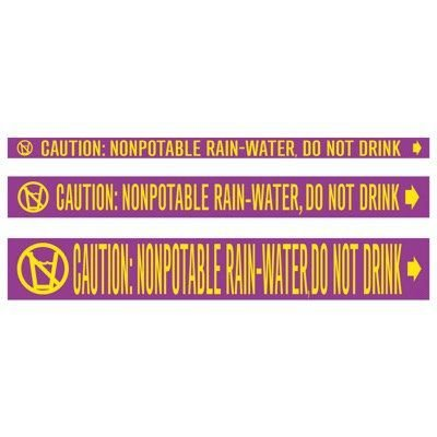 CPVC-Code™ Nonpotable Water Roll Pipe Markers - Rain-Water