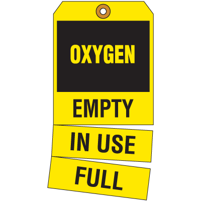 Cylinder Status Tags - Oxygen