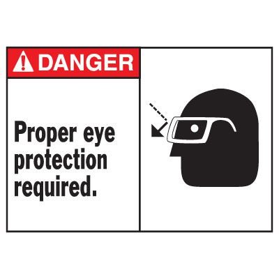 Danger Eye Protection Required Equipment Decal