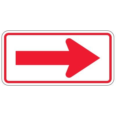 Directional Traffic Signs - Arrow (Red/White)