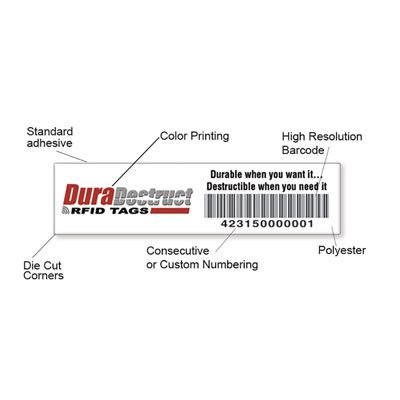 DuraDestruct RFID Security Tags - Glass