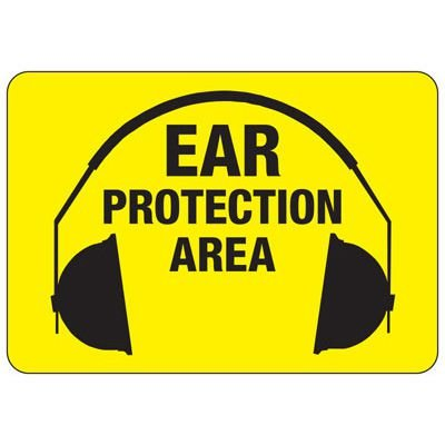Ear Protection Area - Machine Safety Signs