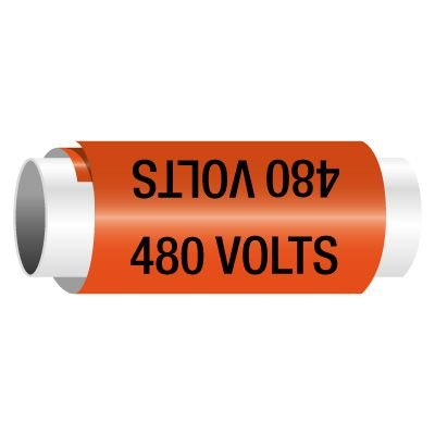 480 Volts - Snap-Around Electrical Markers