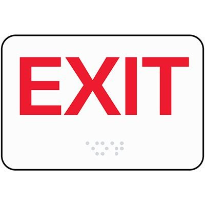 Exit Sign - ADA Braille Signs