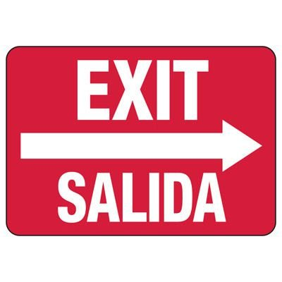 Bilingual Fire And Exit Signs - Exit