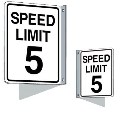 Flanged Traffic Signs - Speed Limit 5 mph