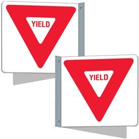Flanged Traffic Signs - Yield