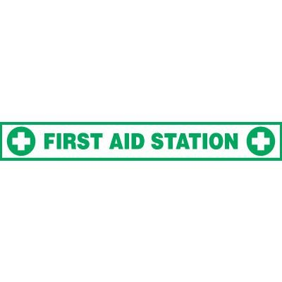 First Aid Station Floor Label