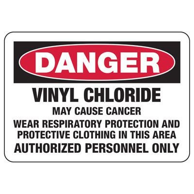 Mandatory GHS Safety Signs - Danger Vinyl Chloride May Cause Cancer