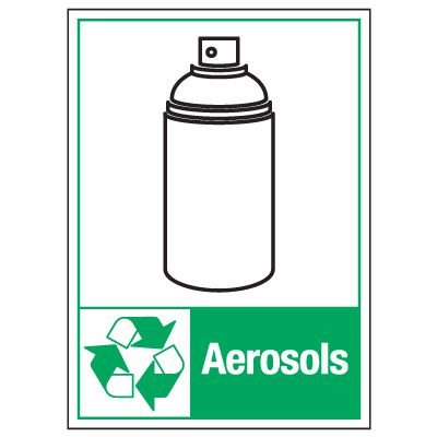 Graphic Recycling Labels - Aerosols