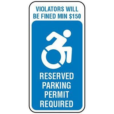 Handicapped Parking Reserved - State Handicap Signs