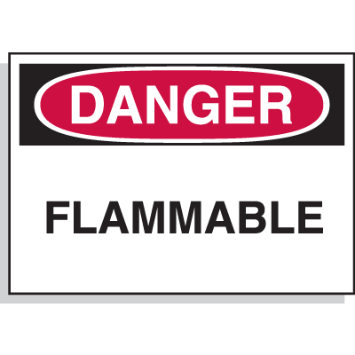 Chemical Hazard Labels - Danger Flammable