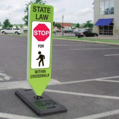 State Law Stop For Pedestrians Within Crosswalk Signs