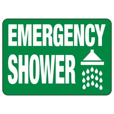 Emergency Shower (Symbol) - Industrial First Aid Sign
