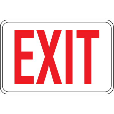 Interior Decor Fire Safety Signs - Exit