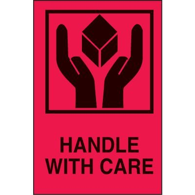 International Shipping Labels- Handle With Care