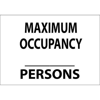 Maximum Occupancy Blank Persons Sign