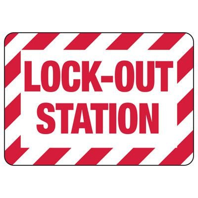 Lockout Signs - Lock-Out Station