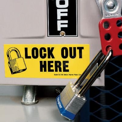 Lockout Labels - Lock Out Here