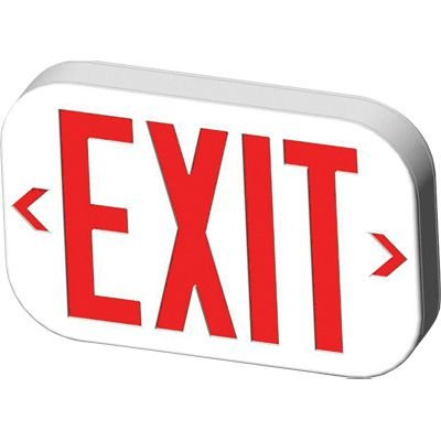 Economy Low Profile UL924 LED Exit Signs with Dual Pointing Arrows