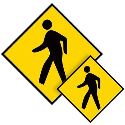 Mighty Line Pedestrian Floor Marking Sign