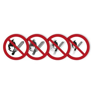 """Seton Motion® Prohibition Sign """"No Fire or Open Flame"""""""