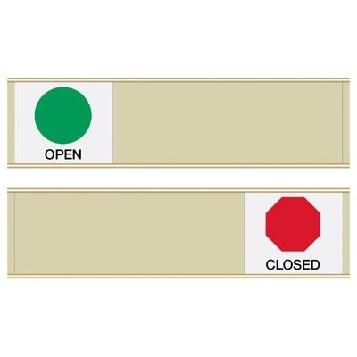 Open/Closed - Blank Sign Sliders