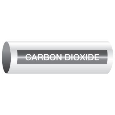 Opti-Code™ Self-Adhesive Medical Gas Pipe Markers - Carbon Dioxide