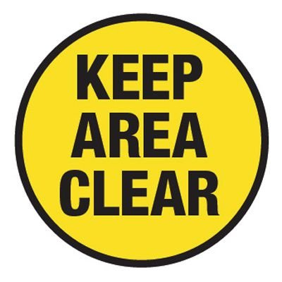 Pavement Message Signs - Keep Area Clear