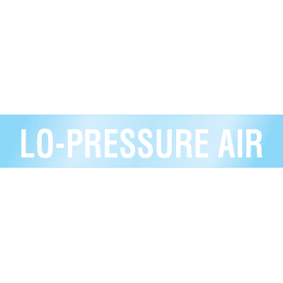 Poly-Code™ Clear Self-Adhesive Pipe Markers - Lo-Pressure Air