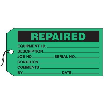 Production Control Tags - Repaired