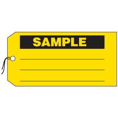 Production Control Tags - Sample