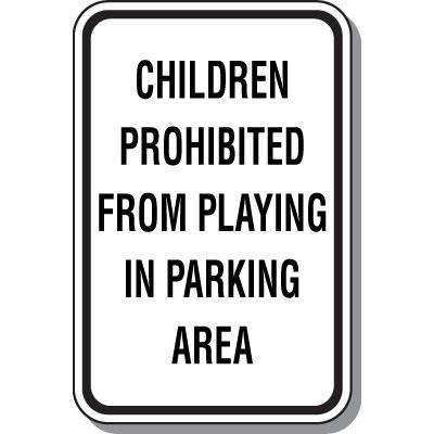 Property Protection Signs - Children Prohibited From Playing