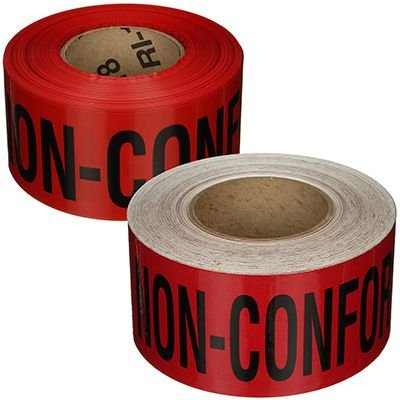 Quality Control Tapes - Non-Conforming Do Not Use