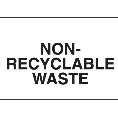 Recycling Labels - Non-Recyclable Waste