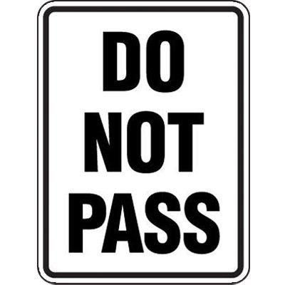 Reflective Speed Limit Signs - Do Not Pass