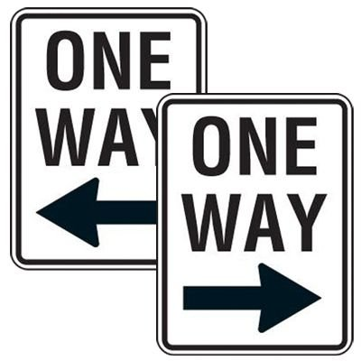 Reflective Speed Limit Signs - One Way (with Left/Right Arrow)