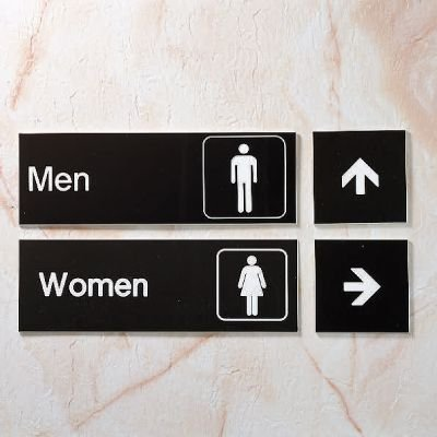 Restrooms - Small Engraved Restroom Signs