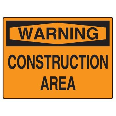 Road Construction Signs - Warning Construction Area
