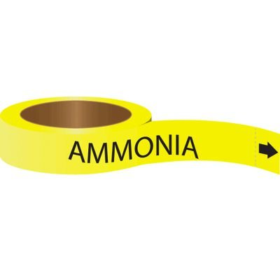 Roll Form Self-Adhesive Pipe Markers - Ammonia