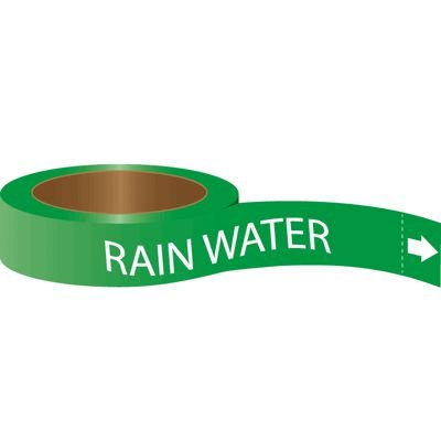 Roll Form Self-Adhesive Pipe Markers - Rain Water