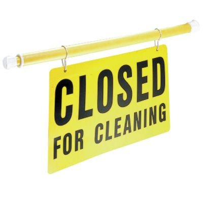 Safety Pole System Sign - Closed for Cleaning