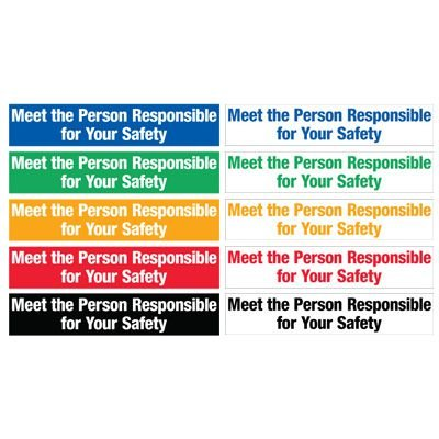 Safety Slogan Mirror Labels - Meet The Person Responsible