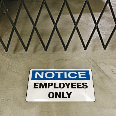 Security Floor Markers - Notice Employees Only