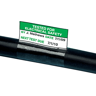 Electrical Safety Write-On Cable Markers - Tested For Electrical Safety