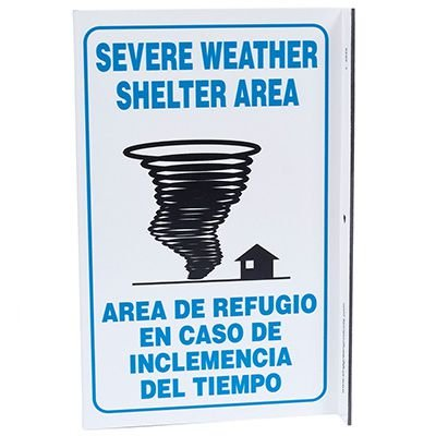 Severe Weather Bilingual L-Style Sign