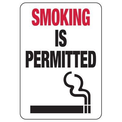 Smoking Is Permitted - Florida No Smoking Sign