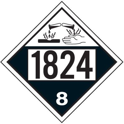 1824 Sodium Hydroxide Solution - DOT Placards