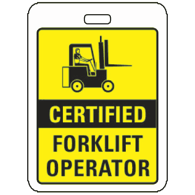 Specialty ID Badges - Certified Forklift